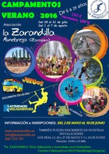 Campamentos La Zarandilla 2016