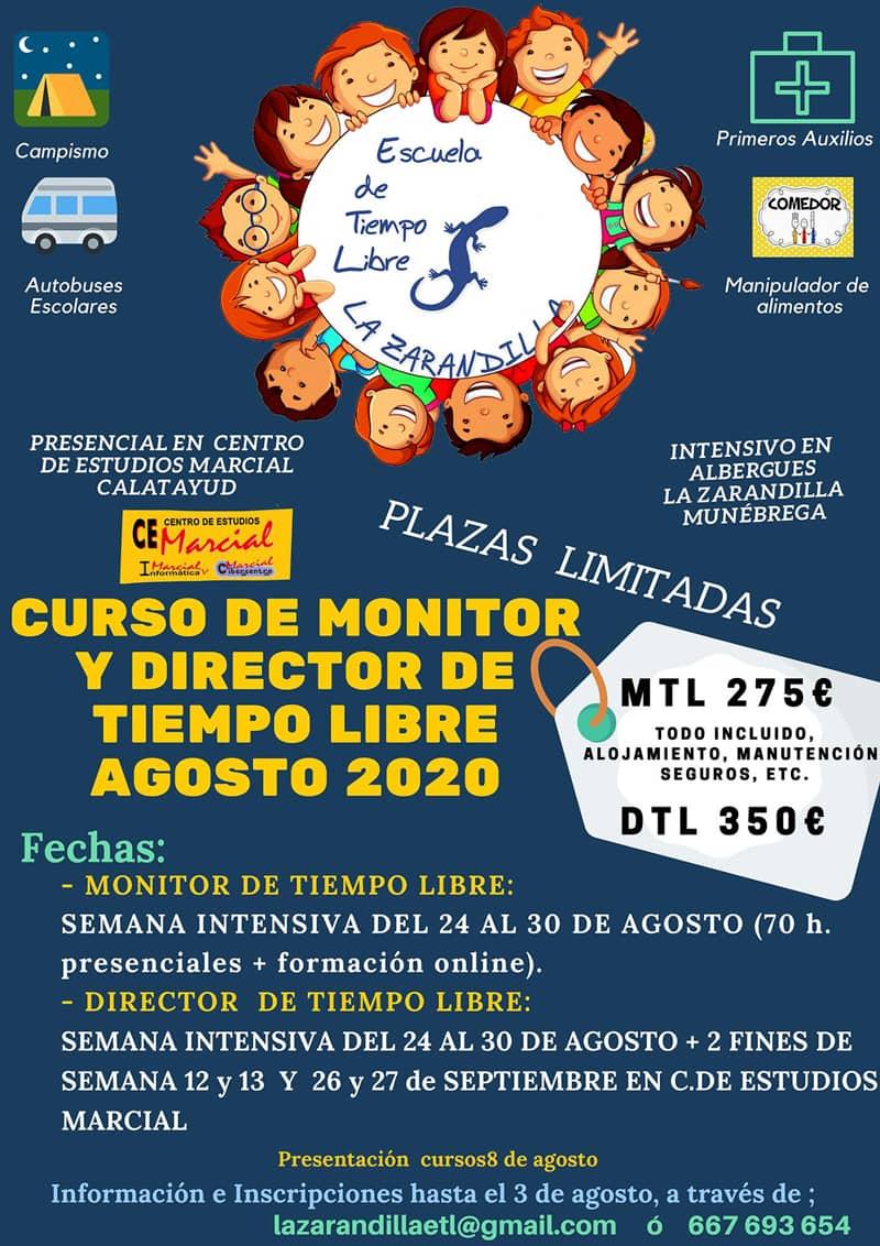 Curso de Monitor de Tiempo Libre, La Zarandilla, agosto de 2020 - Munébrega